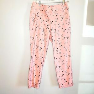 Lane Bryant the allie pants pink floral 16R